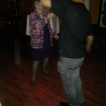 Mom danced the night away at my 40th..