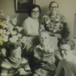 Mom (bottom RT) with Mama and big sisters